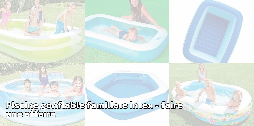 Piscine gonflable familiale intex faire une affaire for Piscine et spa